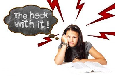 Problemen met leren leidt tot frustratie!
